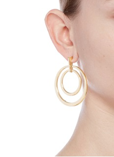 Kenneth Jay Lane Concentric ring drop earrings
