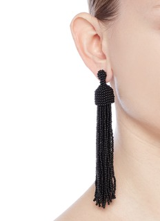 Kenneth Jay Lane Beaded tassel drop earrings