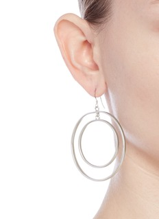 Kenneth Jay Lane Matte concentric ring drop earrings