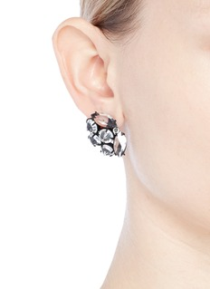 Lulu Frost 'Diamanda' glass crystal cluster stud earrings
