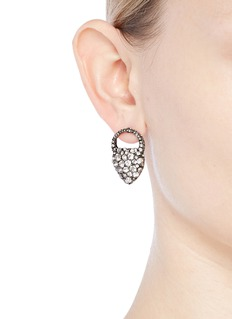 Lulu Frost 'Nina' glass crystal heart stud earrings