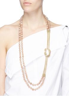 Rosantica 'Intreccio' beaded knot chain necklace