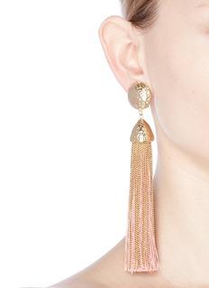Rosantica Tassel clip earrings