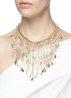 Rosantica 'Risveglio' beaded tassel chain bib necklace