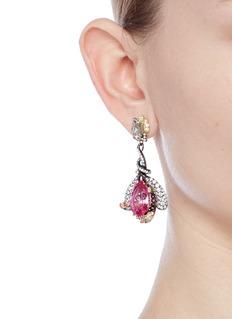 Anabela Chan Detachable diamond sapphire cocktail earrings