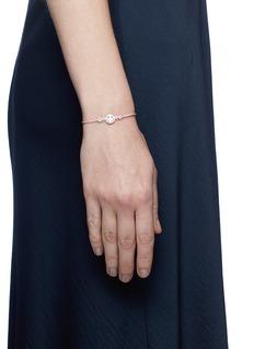 Ruifier 'Smitten Hearts' sterling silver charm cord bracelet