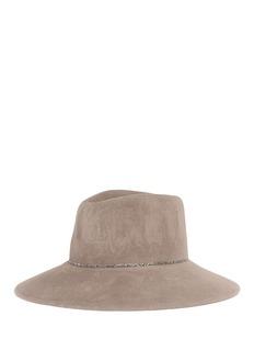 Eugenia Kim 'Emmanuelle' glass crystal furfelt fedora hat