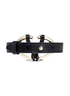 Valentino Logo plate leather bracelet