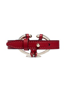 Valentino Logo plate leather bracelet
