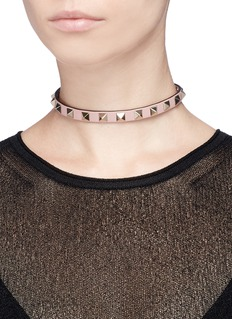Valentino 'Rockstud' leather choker