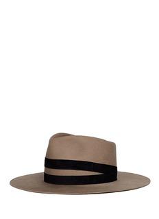 Janessa Leone'Un' suede band wool fedora hat