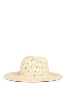 Janessa Leone'Cinq' Panama straw fedora hat