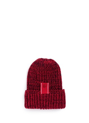 Main View - Click To Enlarge - Bernstock Speirs - Snap tab rib knit beanie