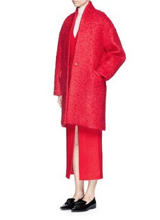 COMME MOIOversize wool-mohair coat