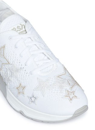 Detail View - Click To Enlarge - Ash - 'Lucky Star' appliqué mixed knit sneakers