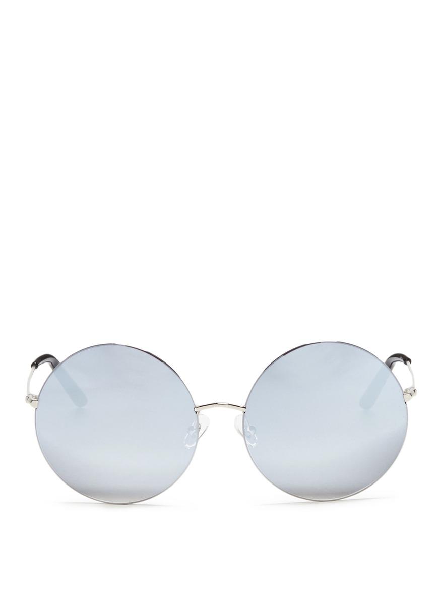 matthew williamson female metal round mirror sunglasses