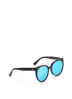 Stephane + Christian 'Petit Monroe' cat eye kids acetate mirror sunglasses