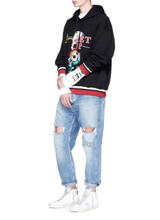 doublet'Double-Faced' fringe embroidered hoodie