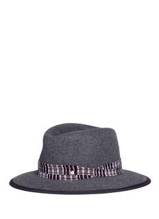 Maison Michel 'André' rabbit furfelt trilby hat