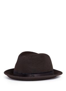 Maison Michel'Ygor' rabbit furfelt trilby hat