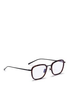 Saint LaurentTortoiseshell acetate rim titanium optical glasses