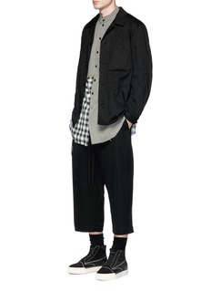 Song for the Mute Cropped wool hopsack jogging pants