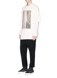 Song for the Mute 'Bird' print oversized cotton French terry T-shirt