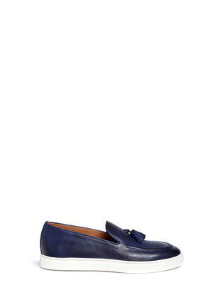 Main View - Click To Enlarge - Doucal's - 'Mike' tassel leather loafers