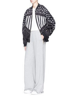 P.E Nation 'Wild Pitch' star stripe print reversible bomber jacket