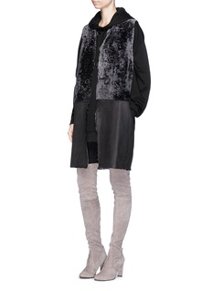 KARL DONOGHUE Reversible panelled lambskin shearling long gilet