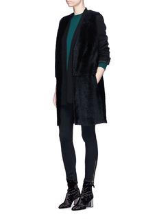 KARL DONOGHUE Reversible cashmere lambskin shearling long gilet