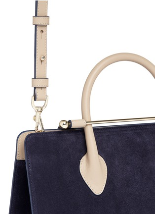 Detail View - Click To Enlarge - Strathberry - 'The Strathberry Midi' suede and leather tote