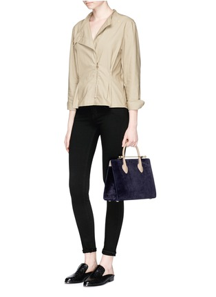 Figure View - Click To Enlarge - Strathberry - 'The Strathberry Midi' suede and leather tote