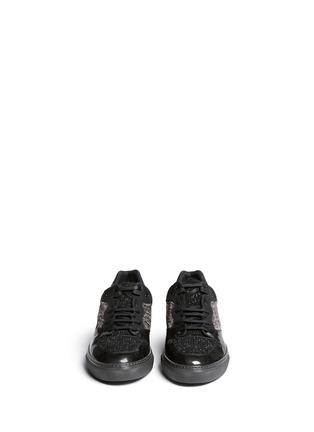 模特儿示范图 - 点击放大 - BALENCIAGA - 皱褶感真皮拼贴球鞋