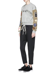 P.E Nation 'Box Out' mixed sports patch sleeve sweatshirt