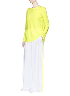 Norma Kamali Neon long sleeve crew neck T-shirt