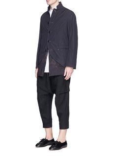 Ziggy ChenContrast detachable hem poplin jacket