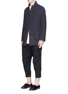 ZIGGY CHEN可拆式双面下摆纯棉西服外套