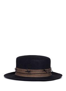 Gigi Burris Millinery 'Paloma' twisted feather felt boater hat