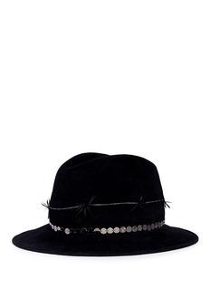 Gigi Burris Millinery 'Reagan' twisted feather felt fedora hat