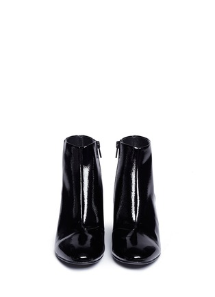 Front View - Click To Enlarge - Ash - 'Heroin' patent leather ankle boots