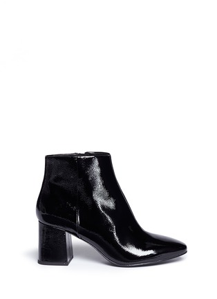 Main View - Click To Enlarge - Ash - 'Heroin' patent leather ankle boots