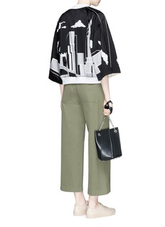 Opening Ceremony City print kimono sleeve reversible silk bomber jacket
