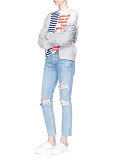 OPENING CEREMONY 条纹及品牌名称印花纯棉T恤