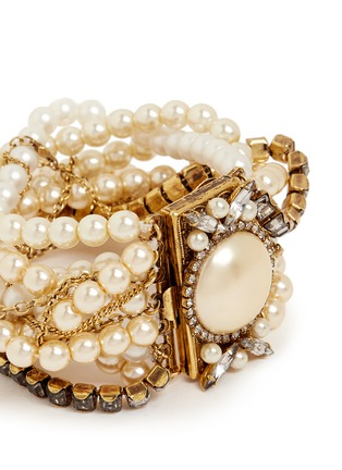 Detail View - Click To Enlarge - Erickson Beamon - Lady and the Tramp' mix twist glass pearl bracelet