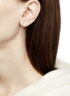 Maria Tash 'Eternity' chain fringe drop single earring
