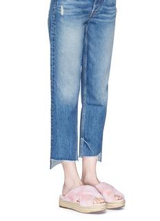 Sam Edelman 'Zia' faux fur espadrille platform sandals