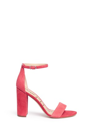 Main View - Click To Enlarge - Sam Edelman - 'Yaro' ankle strap suede sandals