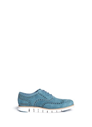 Main View - Click To Enlarge - Cole Haan - ZeroGrand' suede Oxfords