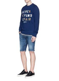 Denham 'BEYOND REPAIR' velvet flock print sweatshirt